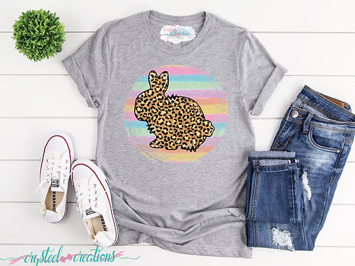 Leopard Bunny Short-Sleeve Unisex T-Shirt