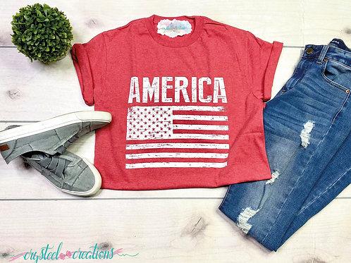America Red Tshirt