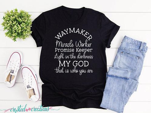 Waymaker curved white font Short-Sleeve Unisex T-Shirt