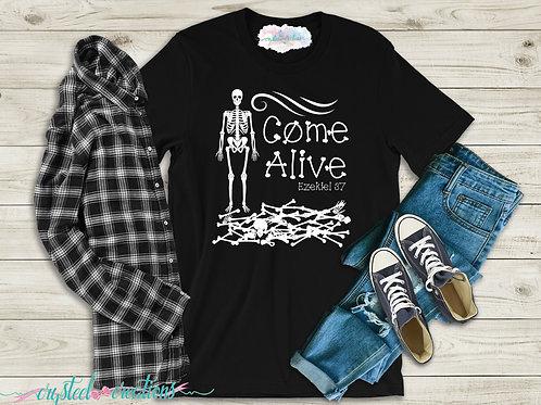 Come Alive Bones Ezekiel Short-Sleeve Unisex T-Shirt