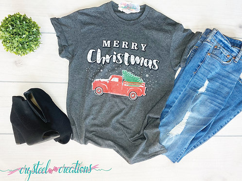 Merry Christmas Red Truck Shirt