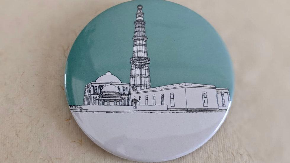 Qutub Minar, Delhi Badge (Quantity : 1 )