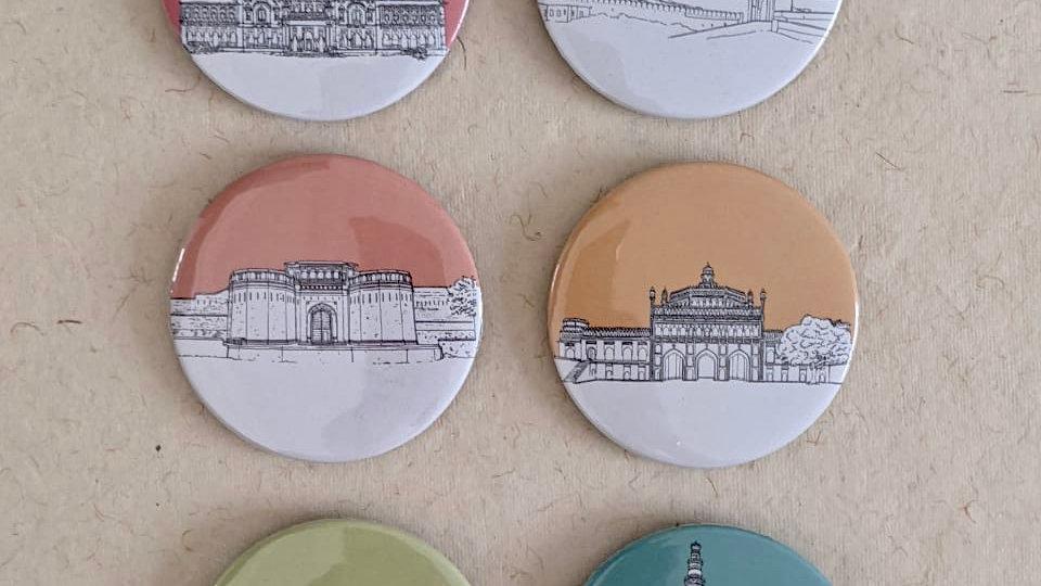 Indian Monuments Badges (Quantity : 6 )