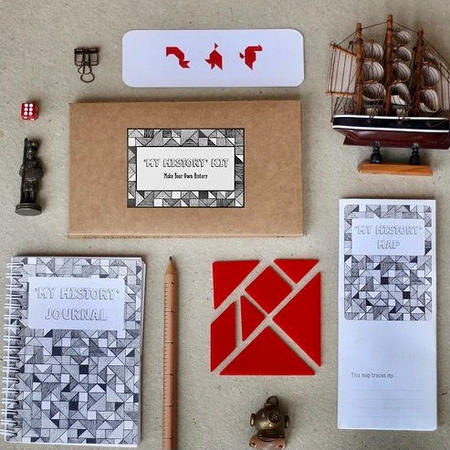 Kits to record personal history and travel experiences.