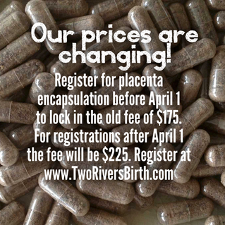 Our Prices Are Changing