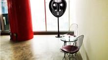 Escultura Cara de Monje realizada para la empresa Panameña Garantías Comunitarias