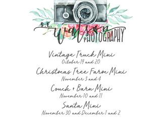 2018 Fall and Christmas Mini Sessions