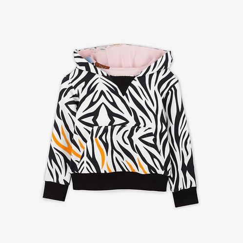 Reversible Zebra Hoodie