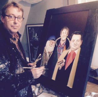 Private commission for a home bar, depicting Only Fools and Horses characters.