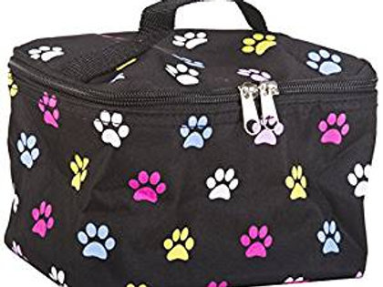 Multi Colored Paw Cosmetic Makeup Case