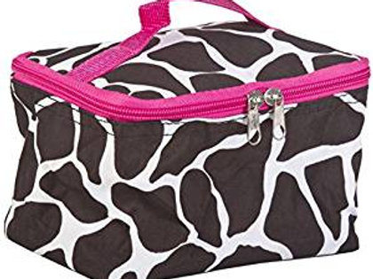 Pink Giraffe Cosmetic Makeup Case