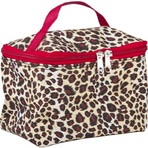 Red Leopard Cosmetic Makeup Case