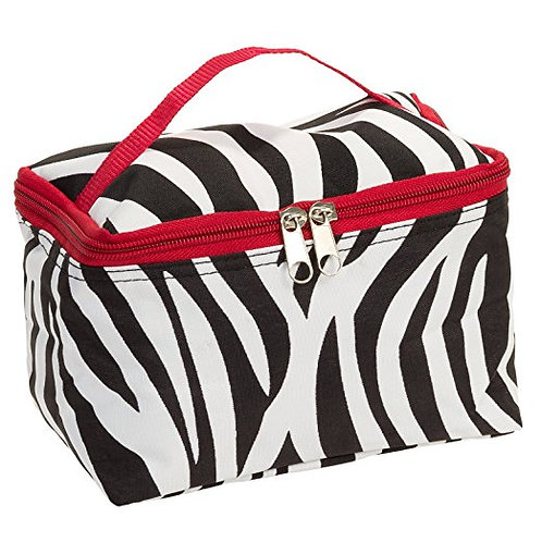 Red Zebra Cosmetic Makeup Case