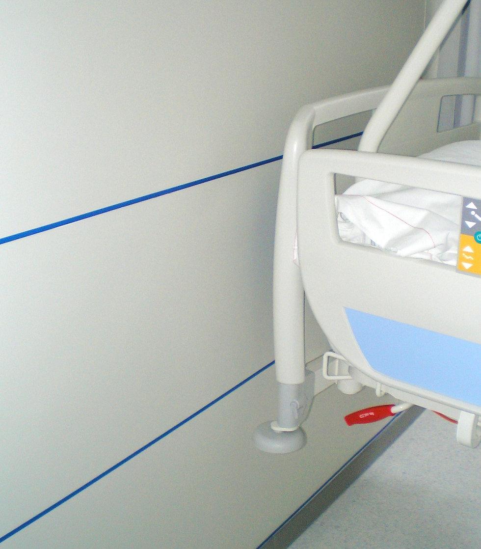 zocalos, revestimientos, protección mural, b-s1,d0, revestimientos hospital, protección paredes, quirófanos