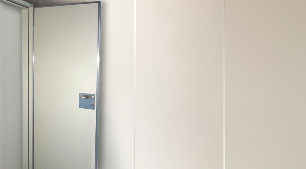 Puertas duras, Puertas resistentes, Puertas a prueba de impactos, Puertas B-s1,d0, Puertas hospital