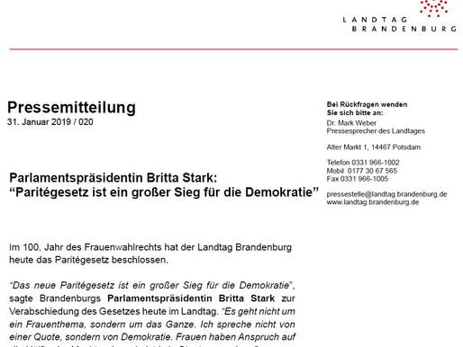 Brandenburgs Paritégesetz –– Sieg oder neuer Tiefpunkt für die Demokratie?