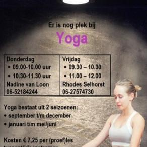 Doe mee met Yoga op donderdag of vrijdag