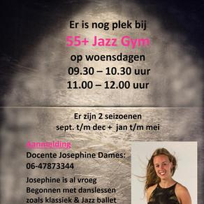 Er is nog plaats bij 55+ Jazz Gym op de woensdag