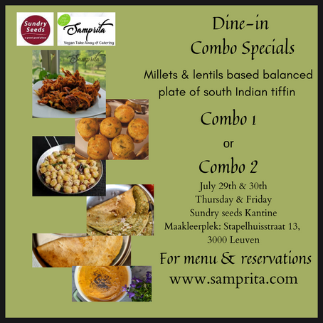 Thinai [Foxtail millet] Dosai & Pesarattu [Mung bean dosai]? Come over for dine-in...