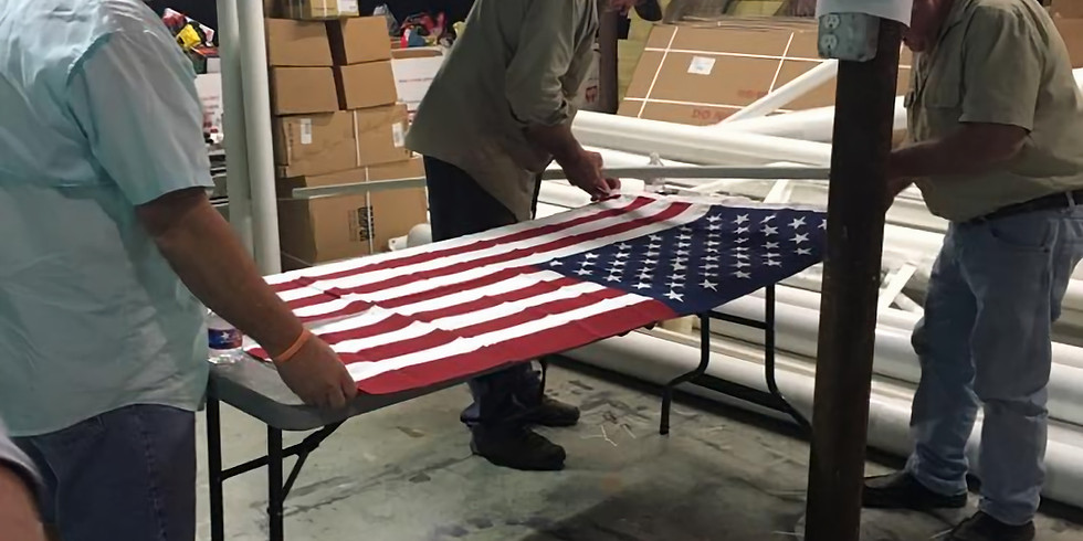 Warrior's Weekend Field of Honor Flag/Field Prep