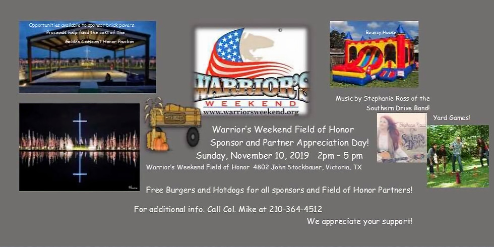 WW Field of Honor Sponsor and Partner Appreciation Day