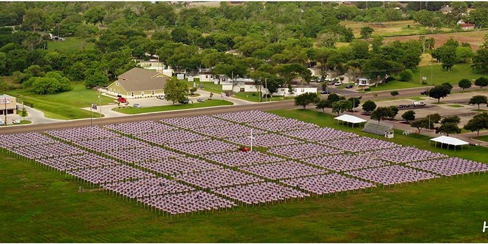 Warrior's Weekend Field of Honor Flag Posting