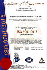 Edudite Consultancy ISO Certificate