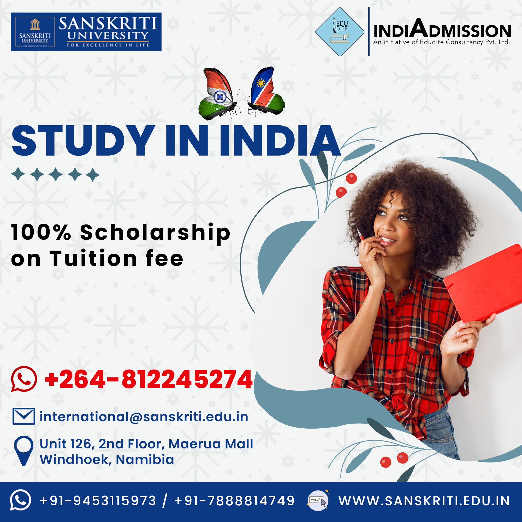 Study in India Counselling session