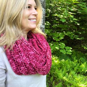 Berry Picking Shawl Free Crochet Pattern