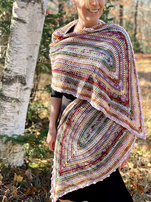 The Canoe Shawl Crochet Pattern