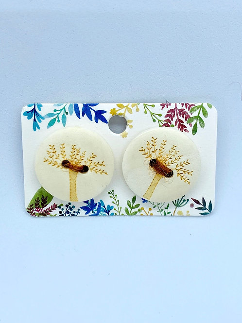 Wooden Tree Buttons Set of 2