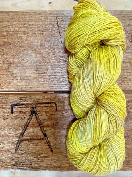 Fingering Yarn 4-Ply Sock Yellow Tonal