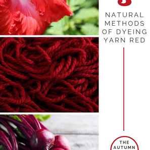 3 Ways to Naturally Dye Yarn Red