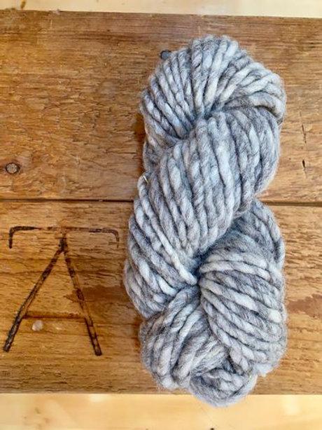 Super Bulky Yarn Natural Light Grey Undyed