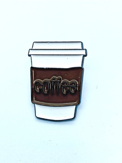 Coffee Enamel Pin Starbucks-Style