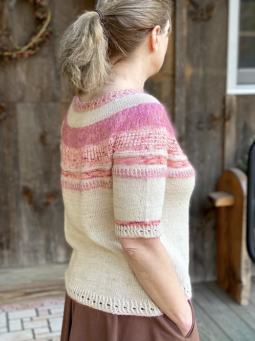 Tender Hearted Tee Knitting Pattern