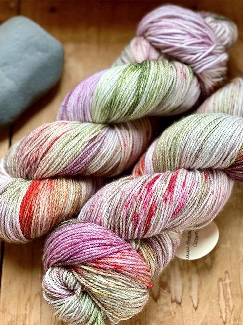 Fingering Yarn 3-Ply Sock Lavender, Green, Red
