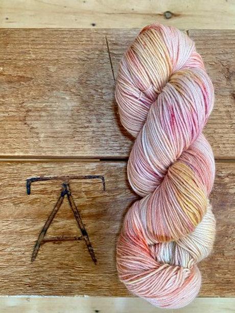 Fingering Yarn 4-Ply Sock Dark Pastel Multi Variegated
