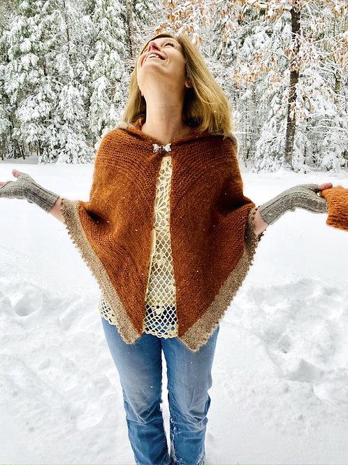 The Fox Whisperer Hooded Shawl/Cape Knitting Pattern