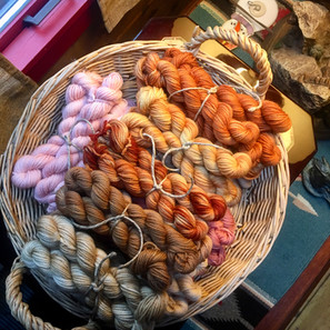 Naturally Hand Dyed Yarn