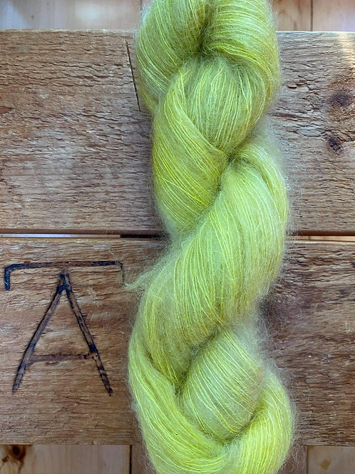 Mohair Silk Lace Yarn Yellow Green