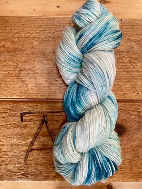 Fingering Yarn 4-Ply Sock Blue Multi Variegated Dark