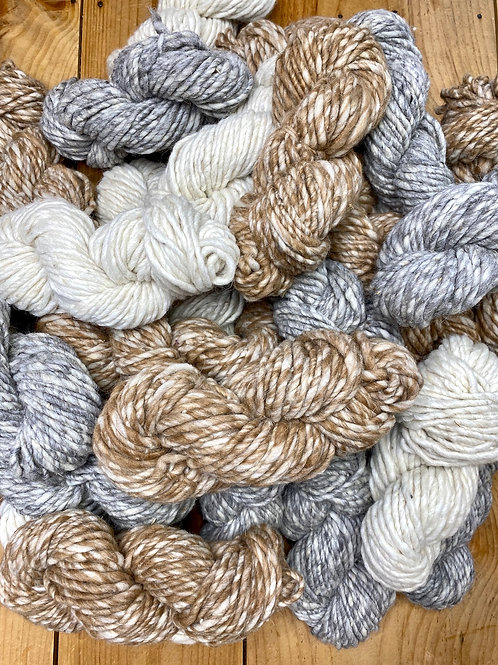 Super Bulky Hand Spun Yarn Natural Light Fawn Undyed