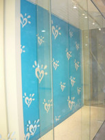 Blue love heart display