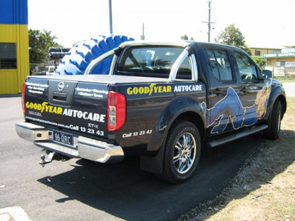 Goodyear Auto Care Hilux vehicle wrap