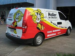 Marshall Batteries vehicle wrap