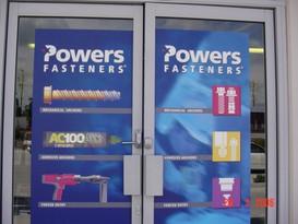 Powers Fasteners front door display