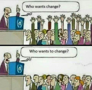 What happens when the change does not start with the leaders