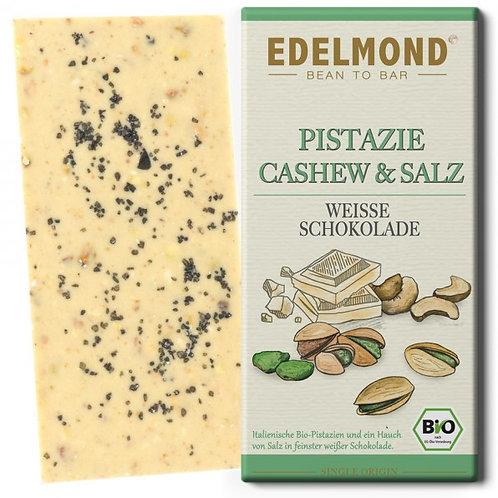 Gesalzene Pistazie & Cashew, Weiße Schokolade, Bio
