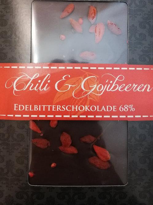 Chili & Gojibeeren Dunkelschokolade